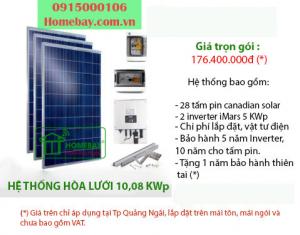 Hệ thống điện mặt trời hòa lưới 10,08 KWp tại Homebay