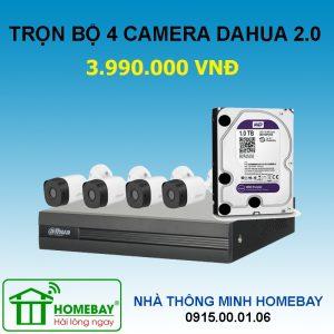Trọn bộ 3 camera Dahua 2.0
