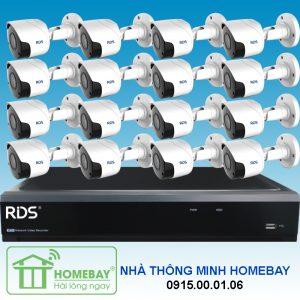 TRỌN BỘ 16 CAMERA 5MP RDS tại Homebay