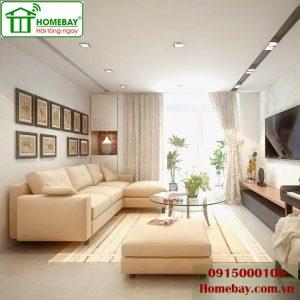 Không gian sống hiện đại với phòng khách nhà thông minh tại Homebay
