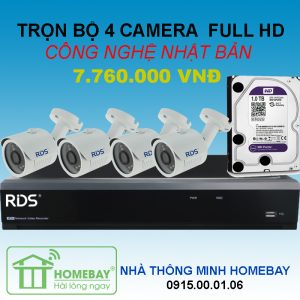 TRỌN BỘ 4 CAMERA FULL HD RDS
